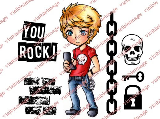 visible image stamps max rocks teenage skulls character stamp x