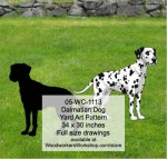 Dalmatian Dog Yard Art Woodworking Pattern - fee plans from WoodworkersWorkshop® Online Store - dalmations,dogs,pets,animals,yard art,painting wood crafts,scrollsawing patterns,drawings,plywood,plywoodworking plans,woodworkers projects,workshop blueprints