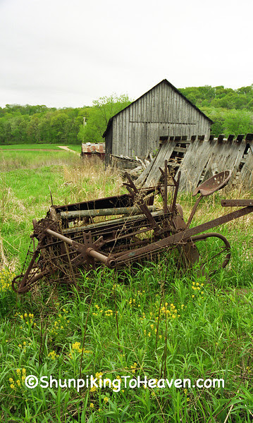 Rusty Old Grain Binder, Herman Ringelstetter Farm, Wilson Creek, Sauk County, Wisconsin