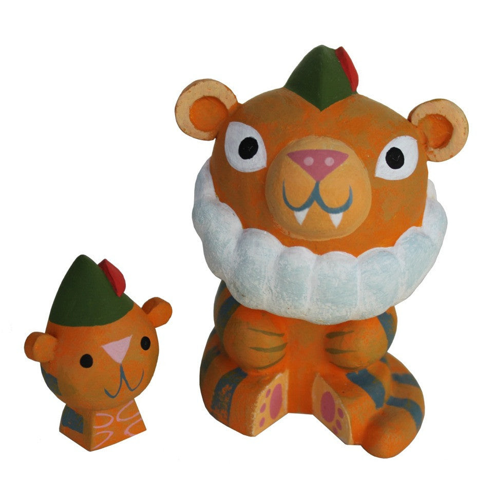 Grandpa Tiger resin figure