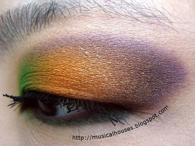 purple orange green secondary colors eye look 2