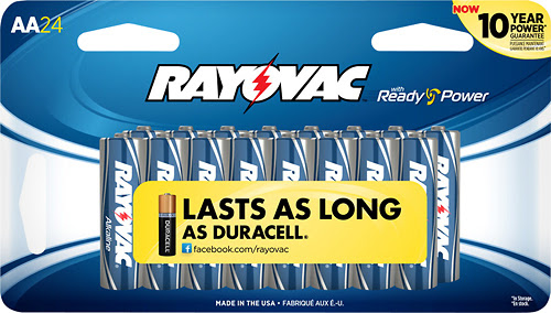 Rayovac - AA Batteries (24-Pack) - Silver/Blue - Larger Front