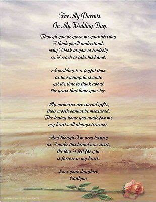Details about Personalized Poem For Mother Father From