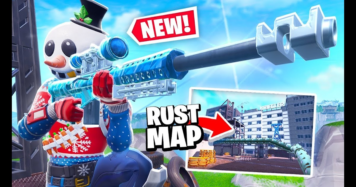 New 1v1 Fortnite Rust Map Sniper Gamemode In Fortnite Battle