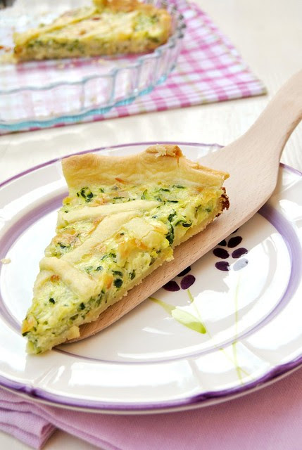Zucchini and Pecorino Cheese Quiche