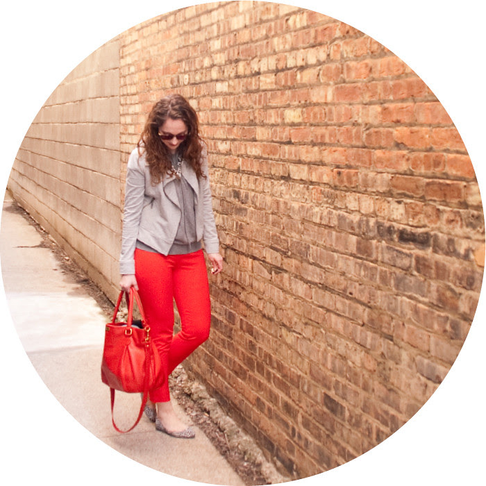 red pants and new sunnies