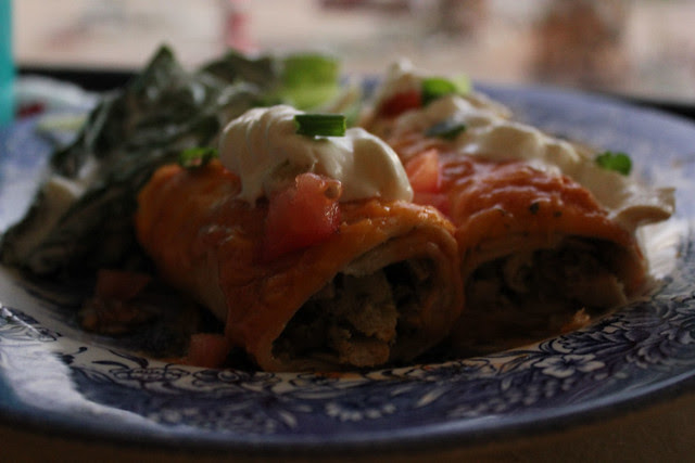 Tomatillo and Cilantro Chicken Enchiladas
