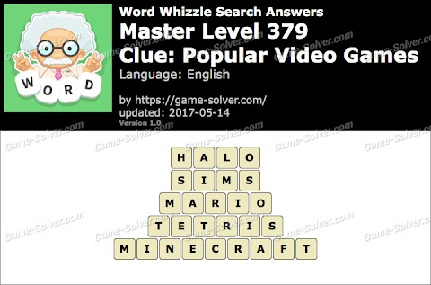 Popular Video Games Word Whizzle