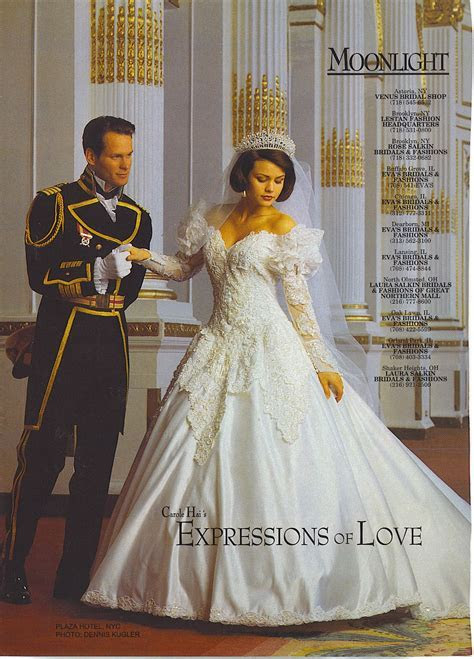 Moonlight bridal gown ad from the 1990s   Vintage Wedding
