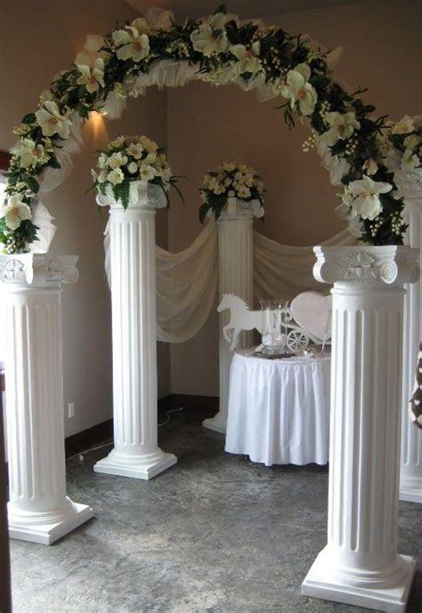 ideas  wedding column decor ideas