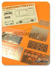 Fotograbados 1/24 Hobby Design - Lamborghini Murcielago LP670 R-SV - fotograbados + resinas + piezas de metal para kit de Aoshima AOSH-007082