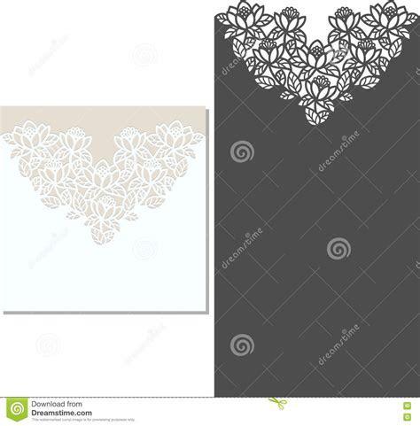 Laser Cut Envelope Template For Invitation Wedding Card