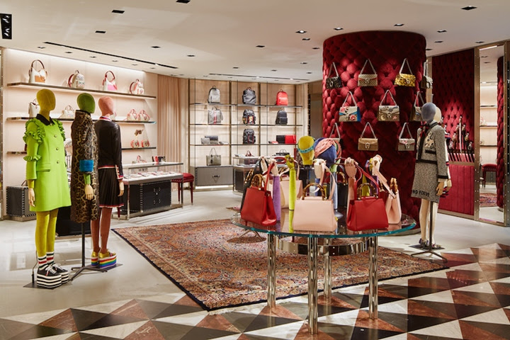 Gucci store by Alessandro Michele Tokyo Japan