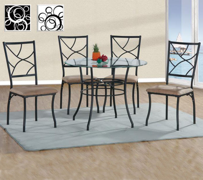 Vintage Dining Table Set Metal Glass Top Round Table Chairs Sets Wholesale Buy Malaysia Dining Table Set Glass Dining Table And Chairs Dining Round Table And Chair Set Product On Alibaba Com