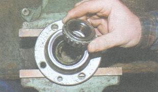 статья про Замена смазки в подшипниках ступиц передних колес на автомобиле ВАЗ 2106