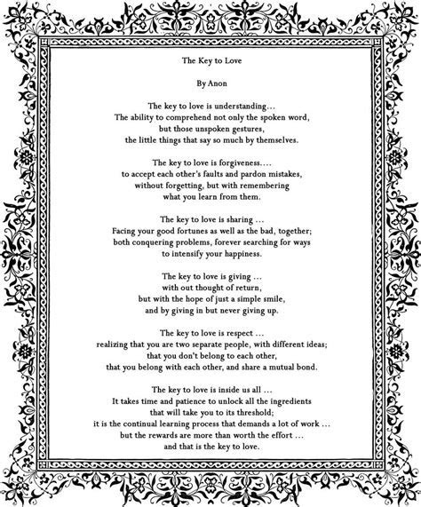 Poem by Anon   great reading for a wedding ceremony