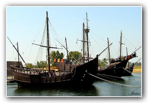 Réplicas de navíos del siglo XV