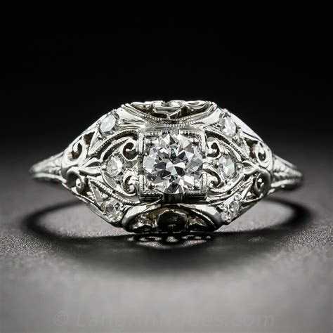 .24 Carat Art Deco Diamond Engagement Ring
