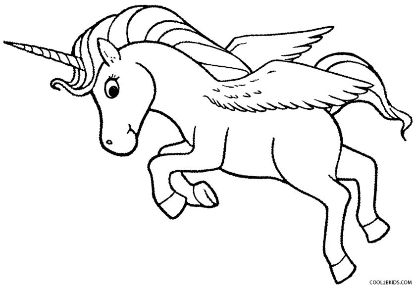 Winged Unicorn Coloring Pages Bltidm Jeffersonclan