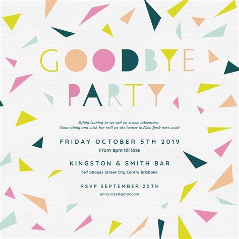 Goodbye Party   Retirement & Farewell Party Invitation
