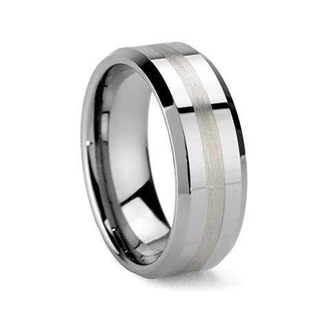 POSEIDON 6MM/8MM Tungsten Carbide Ring with Beveled Edges