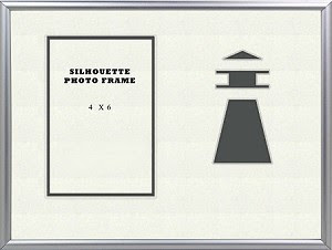 Table Top Childrens Nautical Grey Lighhouse Beach 8x10 Photo Frame