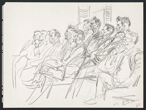 rare courtroom sketches   infamous trials