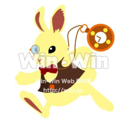 不思議の国のアリスウサギ W 014293 の無料cgイラスト素材