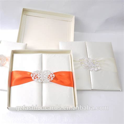 Factory Price Wholesale Wedding Invitations Silk Boxes