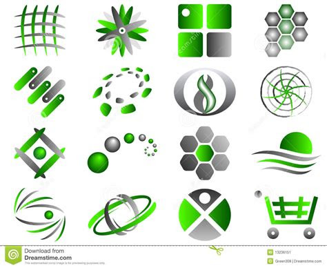 abstract logo icon design set stock image image