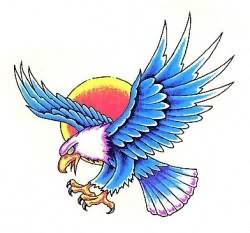 Eagle Colourful Tattoo Design