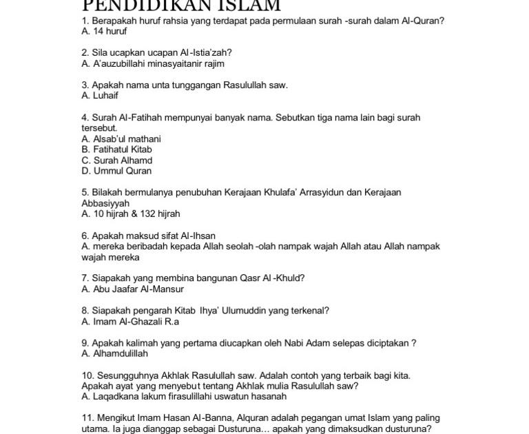 Soalan Kuiz Ramadhan - Krikilan d