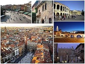 Italiano: Collage di varie foto di Verona