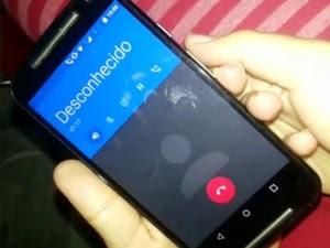 Pessoa que aplicou golpe do falso sequestro em Sumaré usou um bloqueador de número (Foto: Reprodução / EPTV)