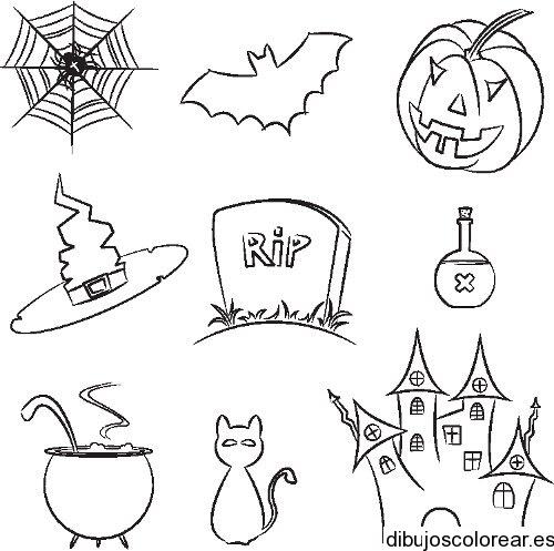 Dibujo De Objetos Para Halloween