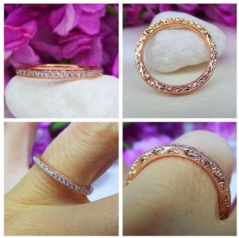 Rose gold and diamond wedding band by David Klass Jewelry