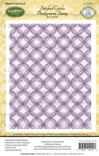 Stitched Circles Cling Background Stamp