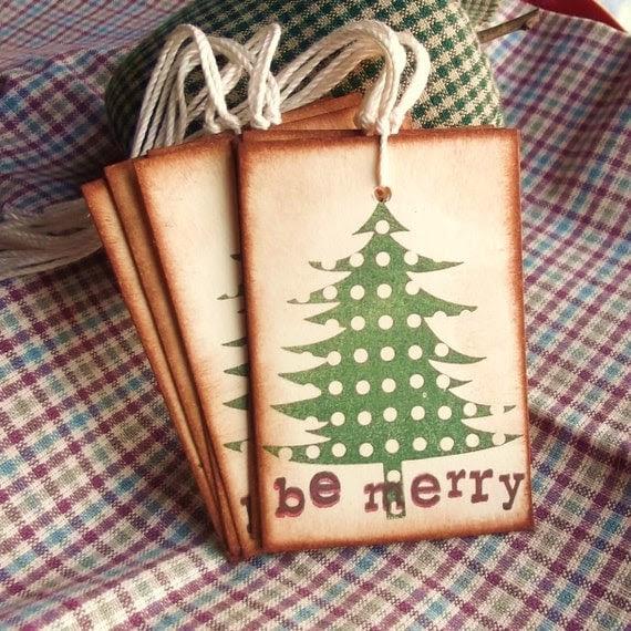 Be Merry Christmas Tree Hang Tags