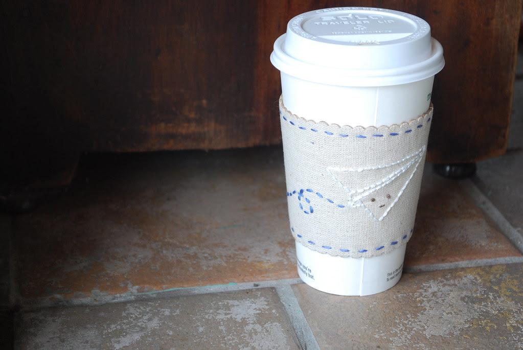 Paper Airplane Coffee Cuff