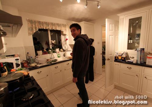 james in kitchen