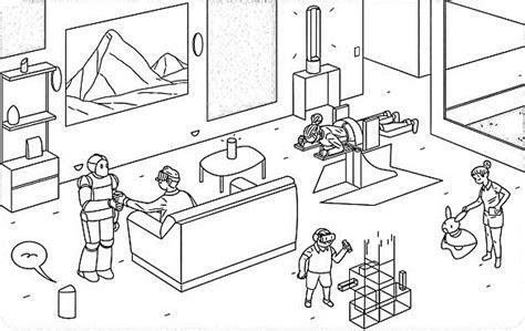 Dibujo Casa Por Dentro Awesome Dibujos Casas Infantiles Con
