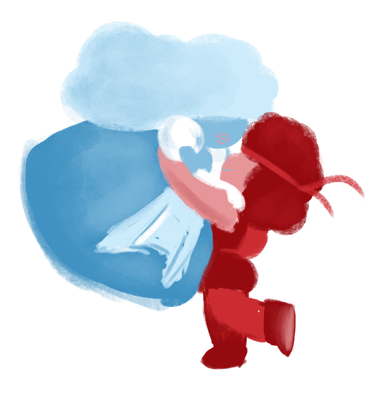 Ruby and Sapphire doodle from the other night.