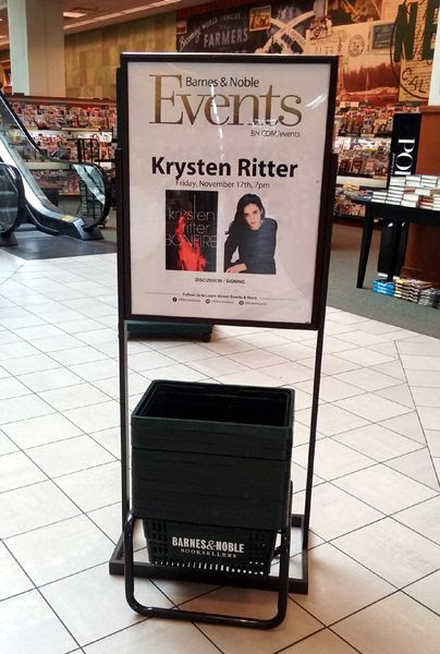 At The Grove's Barnes & Noble bookstore in Los Angeles to attend a signing by actress Krysten Ritter...on November 17, 2017.