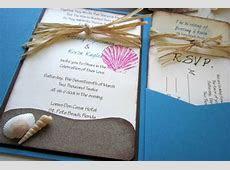 Beach Wedding Invitation Wording   Destination Wedding Details