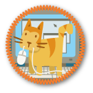 feline assistance badge