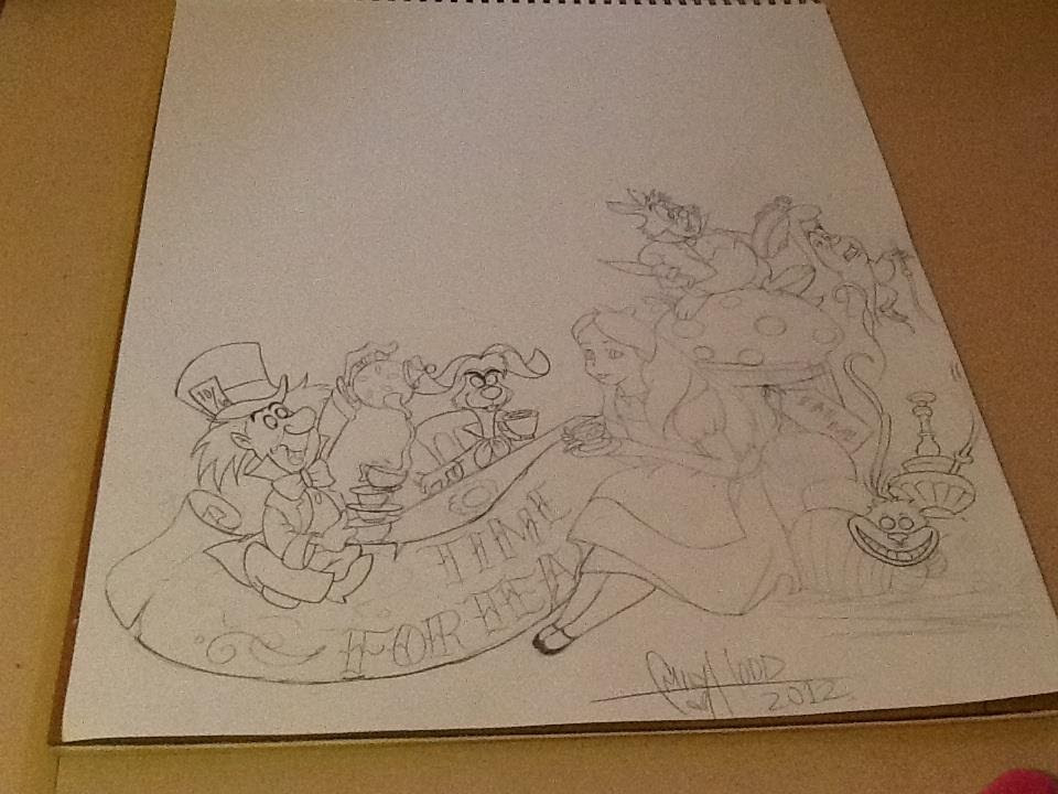 Images Of Alice In Wonderland Tattoos Drawings Gepezz
