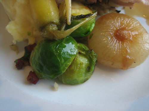 Rialto Thanksgiving dinner with awesome bacon sprouts