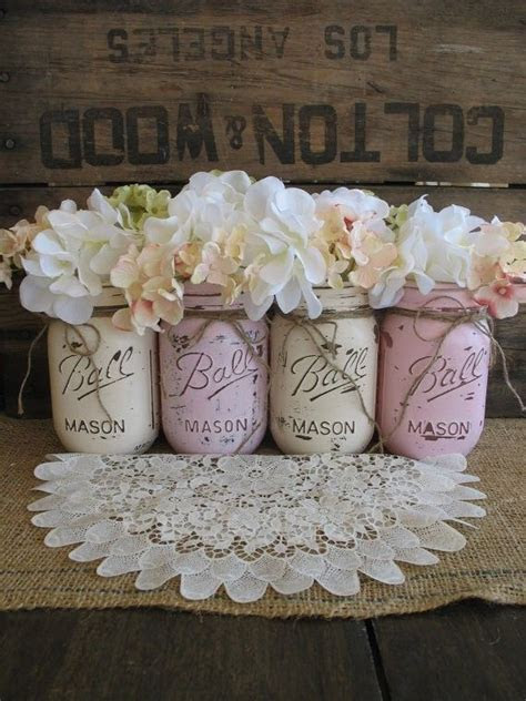 Rustic Wedding Mason Jars Centerpieces   Burlap wedding