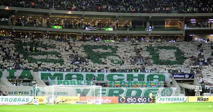 Palmeiras x Fluminense mosaico torcida (Foto: Marcos Ribolli)