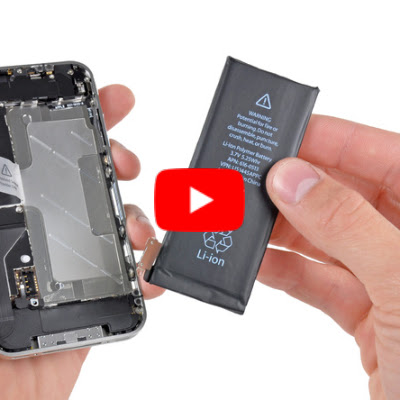 Image: Replacing the battery in an iPhone 4